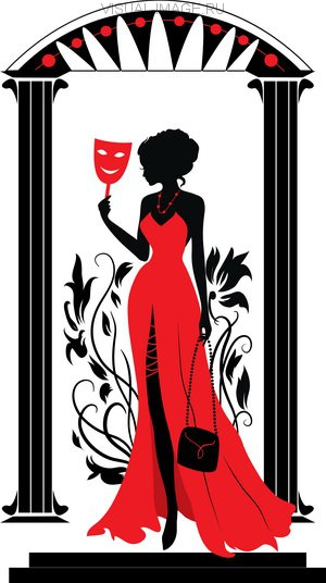 Graphic silhouette of a woman. Isabelle series