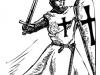 Catholic knight graphic vector illustration