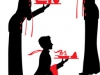 Silhouette Waiter with the tray