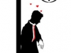 Graphic silhouette of the man